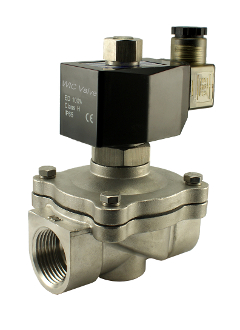 "WIC Valve 2SOW Series 1"" Inch Normally Open Stainless Steel Electric Air Water Solenoid Valve"