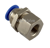 Pneumatic Bulkhead Connector Quick Release Push In Fitting