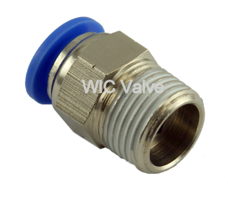 WIC Valve PMC Series 1/8 Inch NPT Male Straight Connector Fitting