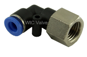 WIC Valve Composite Female Elbow Connector Push In Fitting