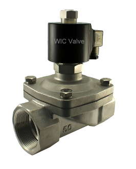 2 Inch Stainless Electric Air Water Zero Differential Solenoid Valve Normally Open