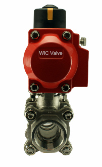 WIC Valve PVD Series Pneumatic Air Acturated Stainless Ball Valve