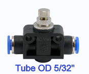 Inline Flow Air Flow Control Valve Push In Fitting