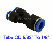 WIC Valve PRYU Series Pneumatic Reduced Y Union 3 Way Quick Release Air Push In Fitting