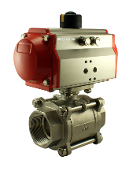 2 Inch Pneumatic Air Actuated Stainless Ball Valve