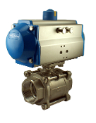 WIC Valve PVS Series Pneumatic Single Acting Spring Return Air Actuated Ball Valve
