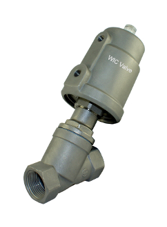 "WIC Valve AVS Series 3/4"" Inch Pneumatic Single Acting Air Operated Angle Seat Valve"