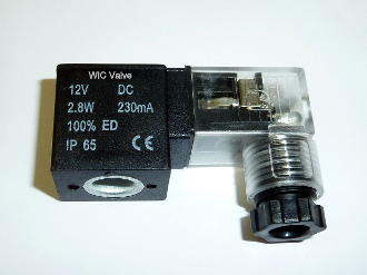WIC Valve VMC Series 12V DC Continuous Duty CE Encapsulated Solenoid Coil DIN Connector