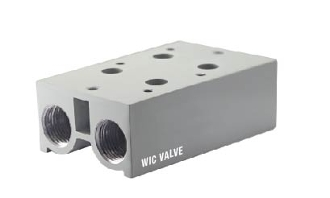 WIC Valve M3V Series Pneumatic 3 Way Electric Air Solenoid Valve Base Mounted Manifold Block