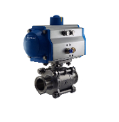 WIC Valve PVS Series Pneumatic Single Acting Air Actuated Tri Clamp Sanitary Ball Valve