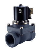 CPVC Anti Corrosion Acid Salt Water Resistant Electric Solenoid Valve