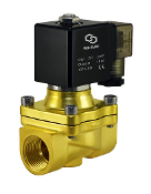 General Purpose Brass Electric Solenoid Air Water Valve