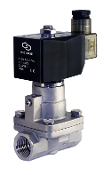 Half Inch NPT High Pressure Normally Closed Stainless Steel Steam Valve