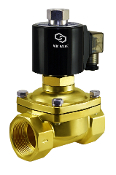 Normally Open Brass Zero Differential Water Solenoid Valve