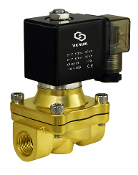 Brass Zero Differential Solenoid Air Water Process Valve