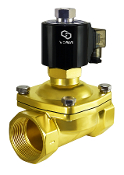 WIC Valve 2BOW Series 2 Inch Normally Open Brass Zero Differential Solenoid Valve