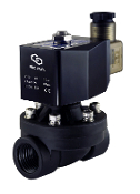 Normally Closed PA66 Nylon Plastic Electric Water Diaphragm Solenoid Valve