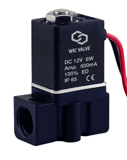 WIC Valve Fast Closing Engineered Plastic Electric Air Water Solenoid Valve