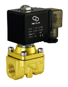 Brass Zero Differential High Pressure Solenoid Air Water Process Valve