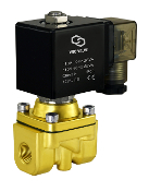 Brass Zero Differential High Pressure High Flow Solenoid Air Water Process Valve