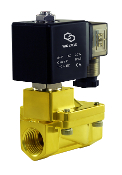 General Purpose Brass High Pressure Process Solenoid Valve