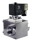 High Pressure Stainless Steel Electric Solenoid Process Valve 940 PSI